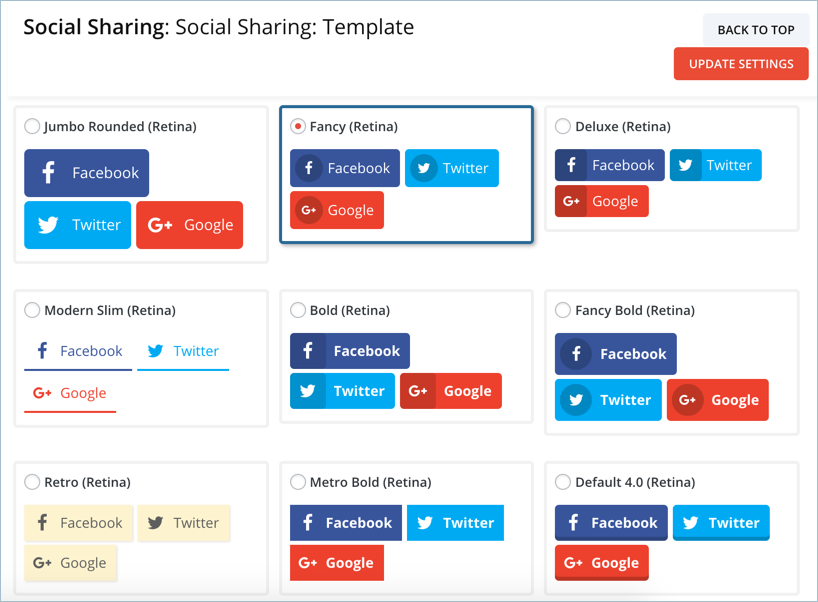 Social Icons Template