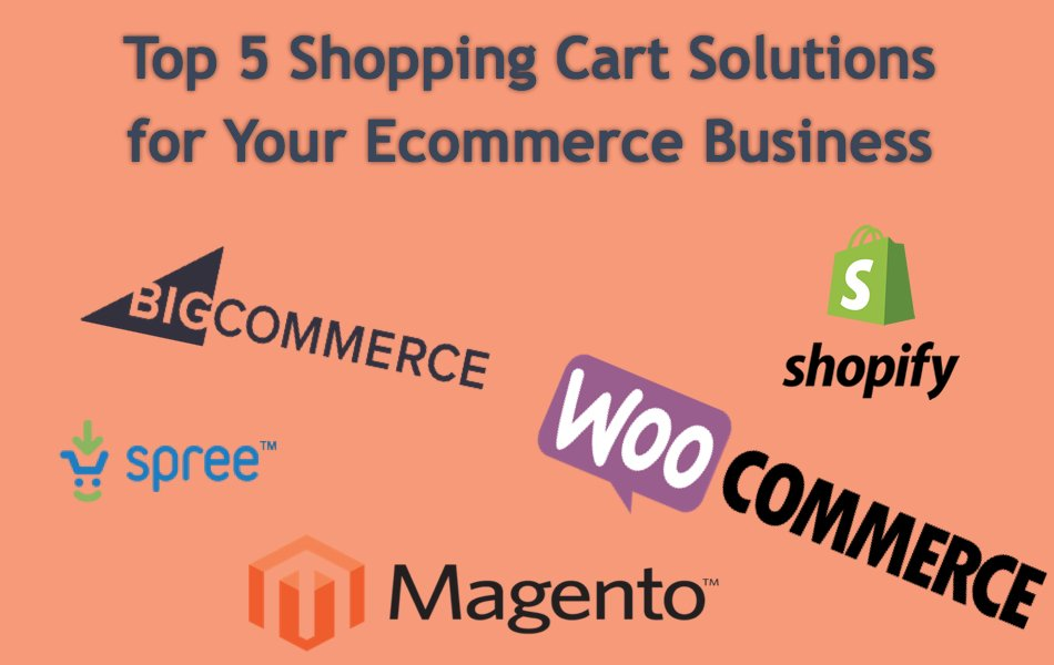 Top 5 Shopping Cart Solutions for Your Ecommerce Business