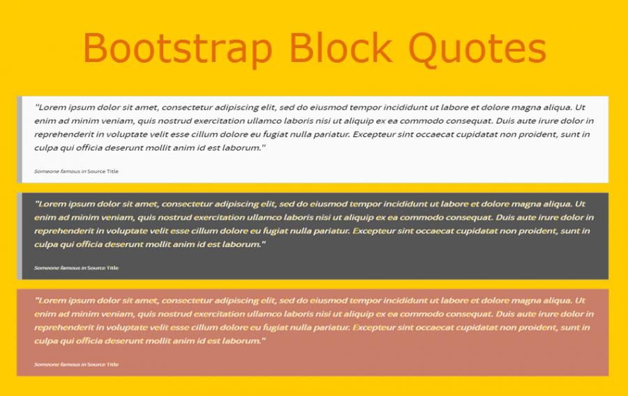 6 Stylish Bootstrap Block Quote Widgets