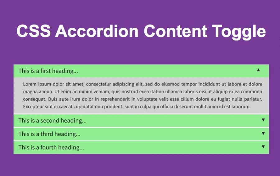 CSS Accordion Content Toggle
