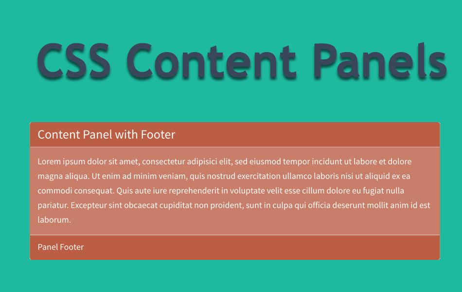 CSS Content Panels