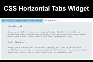 CSS Horizontal Tabs Widget
