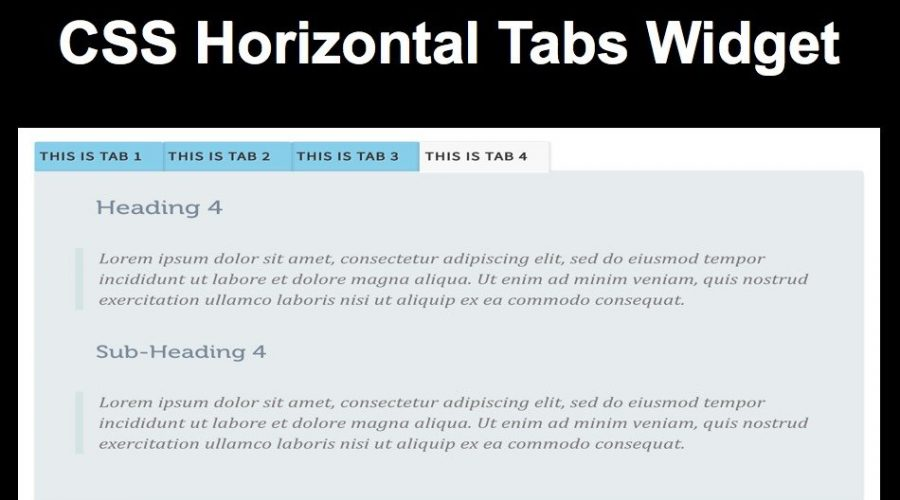 How to Add Horizontal Tabs Widget in Weebly?