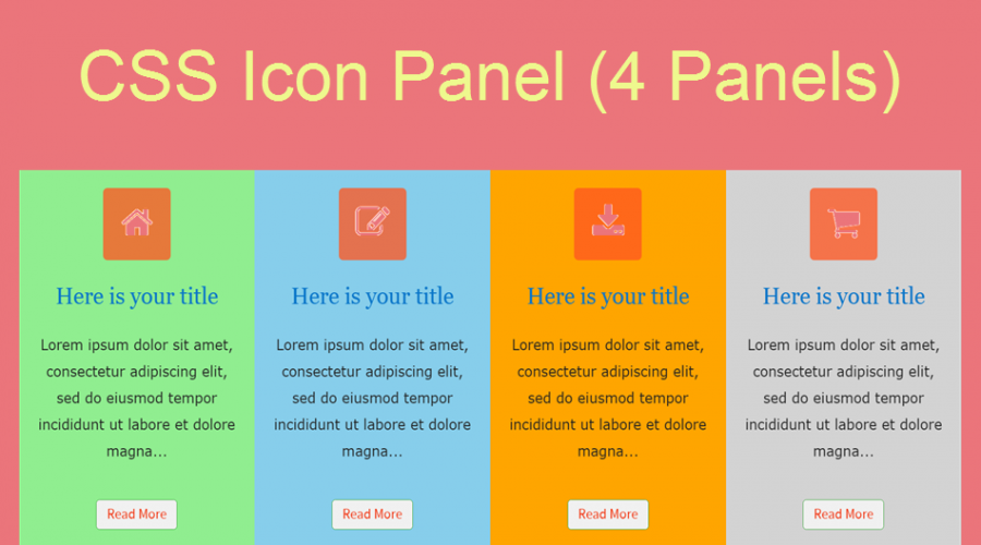 Free Icon Panel Widget for Weebly
