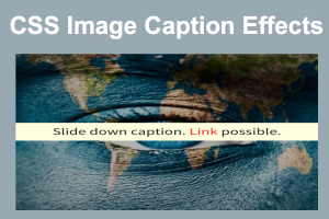 CSS Image Caption Effects