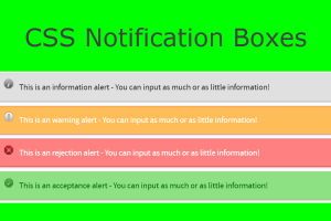 CSS Notification Boxes