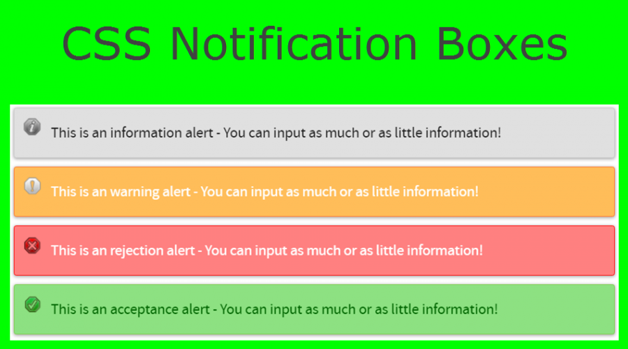 How to Add Notification Message Boxes in Weebly Site?