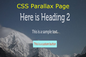 CSS Parallax Page