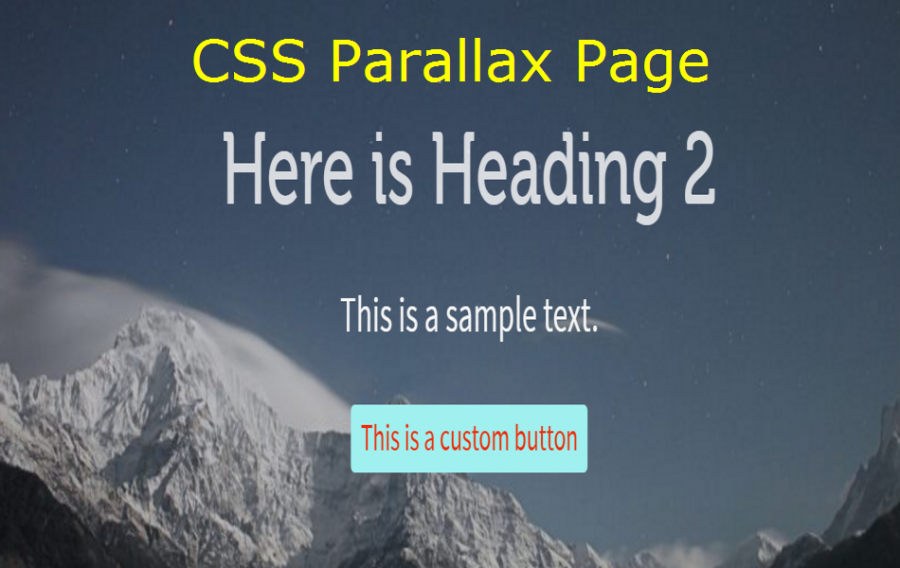 How to Create Full Width CSS Parallax Page Layout?