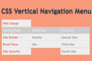 CSS Vertical Navigation Menu