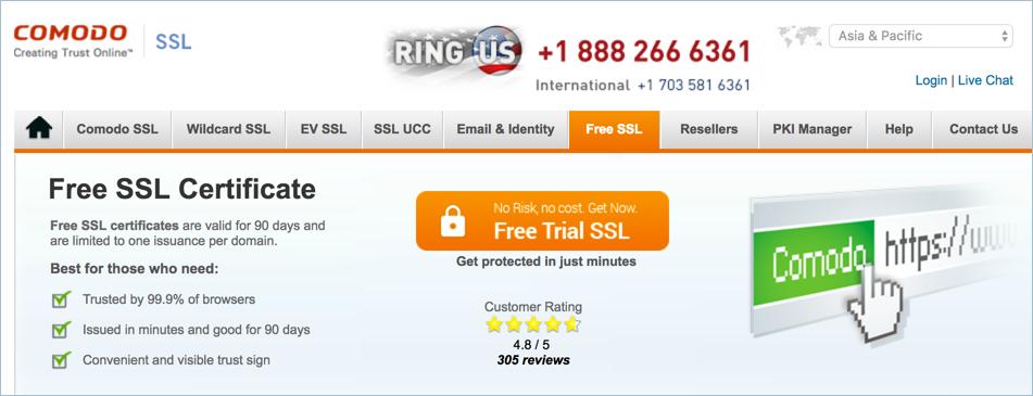 Comodo Free SSL