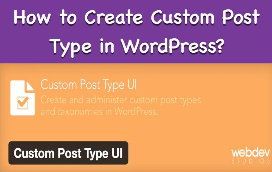 Create Custom Post Type in WordPress