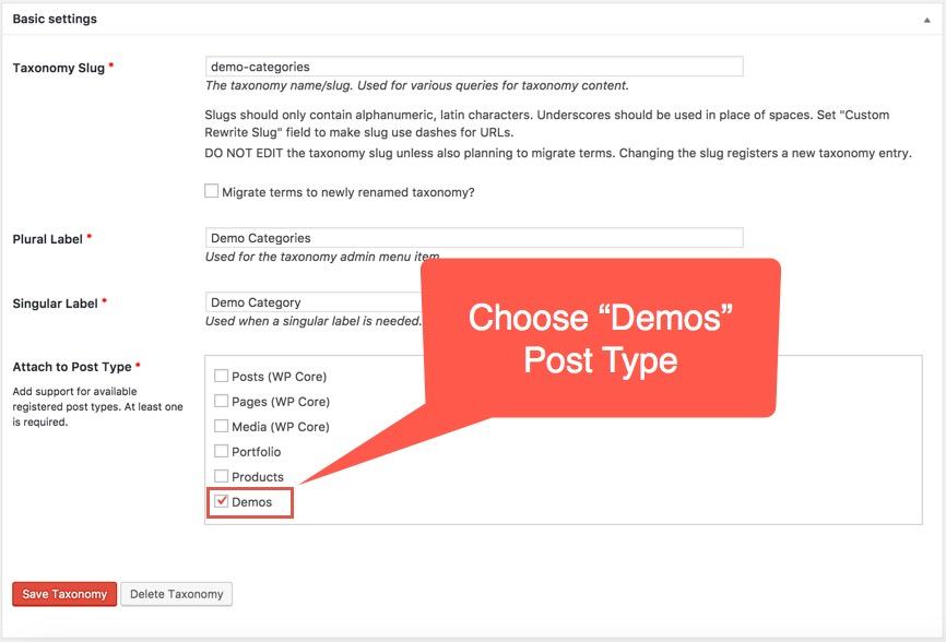 Creating Custom Taxonomy