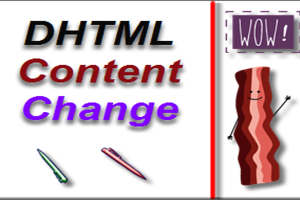DHTML Content Change