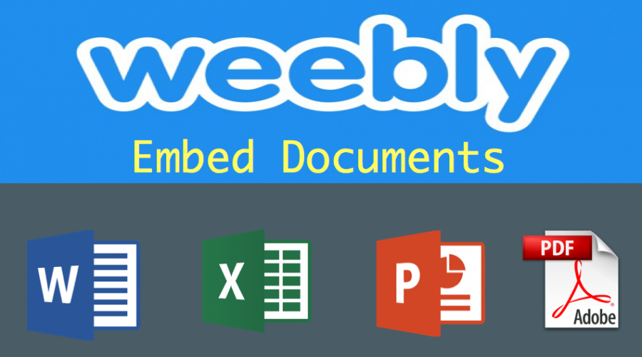 How to Embed Word, Excel, PowerPoint and PDF in Weebly?