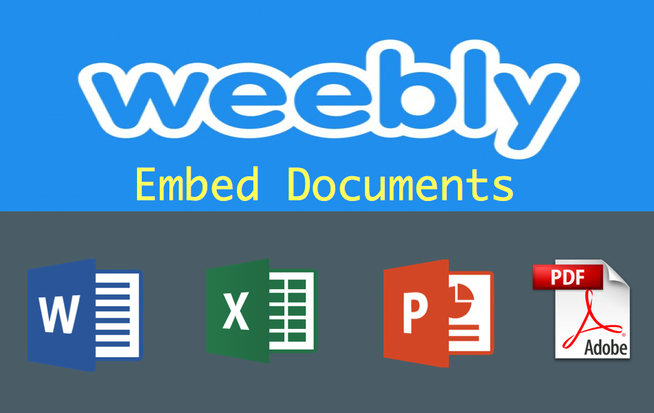 How to Embed Documents in Weebly?