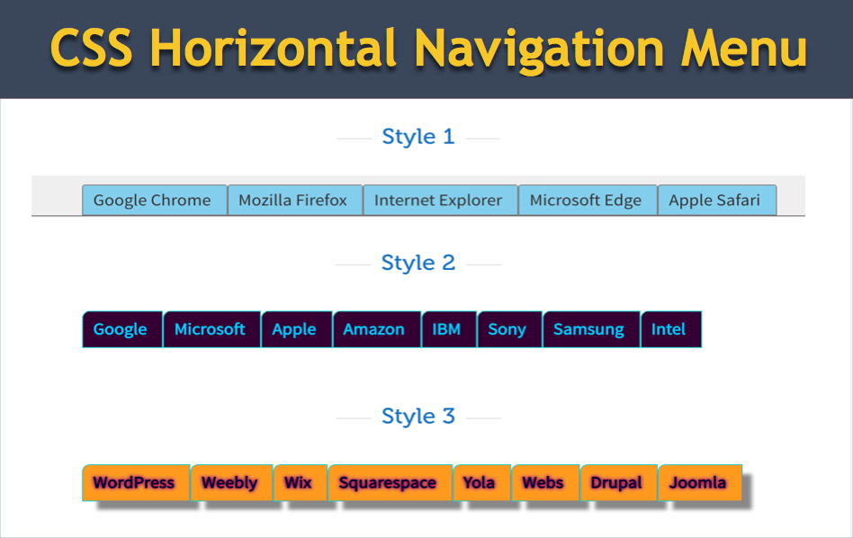 How to Add Horizontal Navigation Menu in Weebly Site?