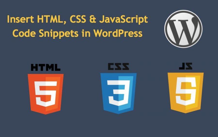 Insert Code Snippet in WordPress
