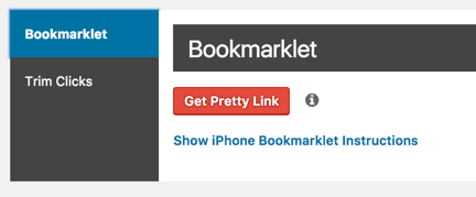 Pretty Link Bookmarklet Tool
