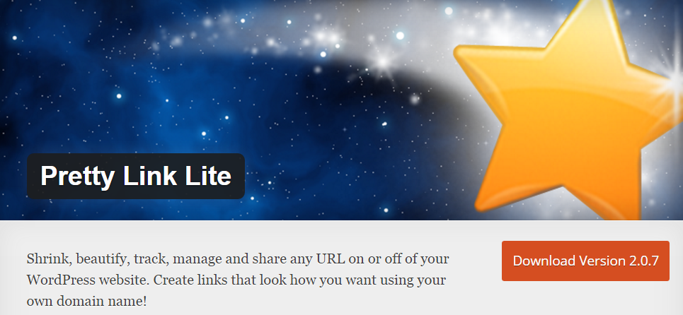 Pretty Link Lite WordPress Affiliate Link Cloaking Plugin