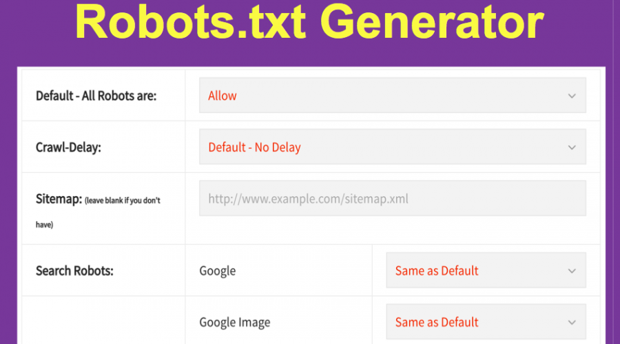Create Robots.txt File with Robots.txt Generator Tool