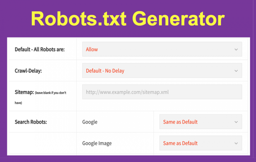 Create Robots.txt File with Robots.txt Generator Tool