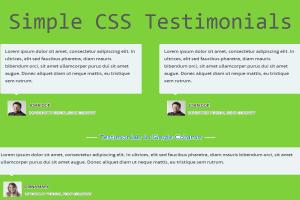 Simple CSS Testimonials