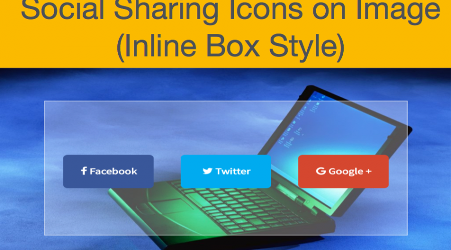 Social Sharing Icons on Image Hover – Inline Box Style
