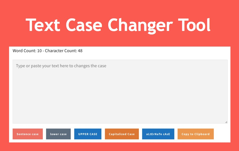 Text Case Converter and Character Counter Tool
