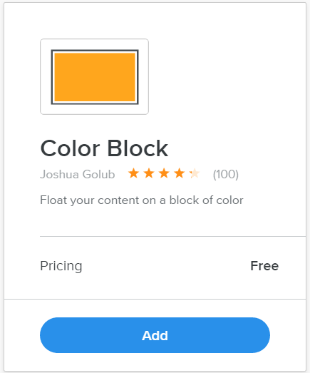 Weebly Color Block App