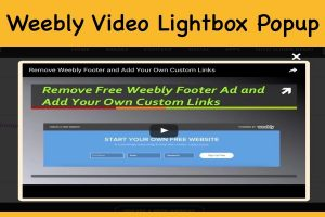 Weebly Video Lightbox Popup