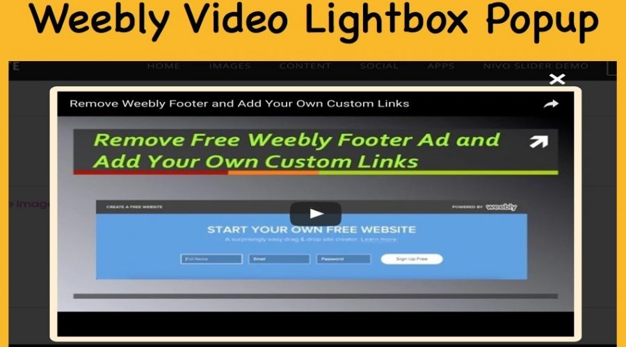 Weebly Video Lightbox Popup [Demo]