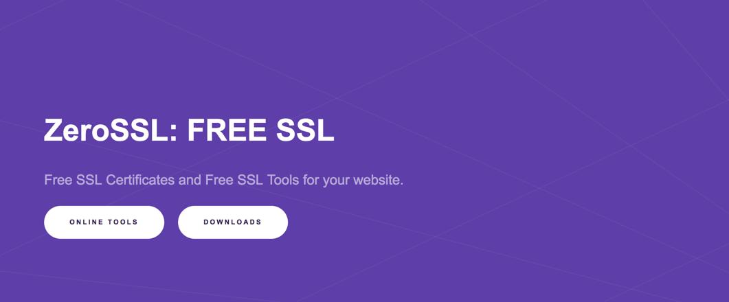 ZeroSSL - Free SSL
