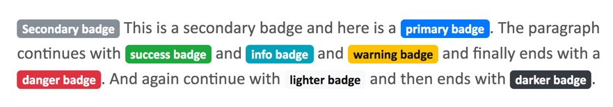 Badge Used Inside a Paragraph Text
