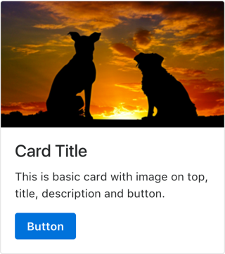 Basic Bootstrap 4 Card