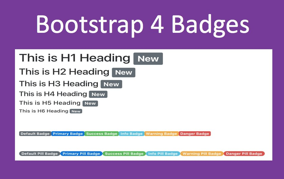 Bootstrap 4 Badge Tutorial