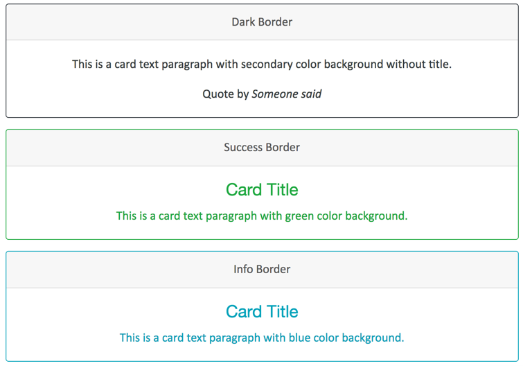 Bootstrap 4 Border Cards - 2