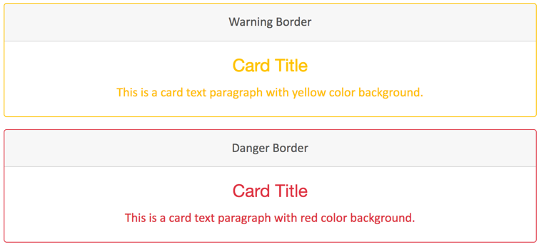 Bootstrap 4 Border Cards - 3