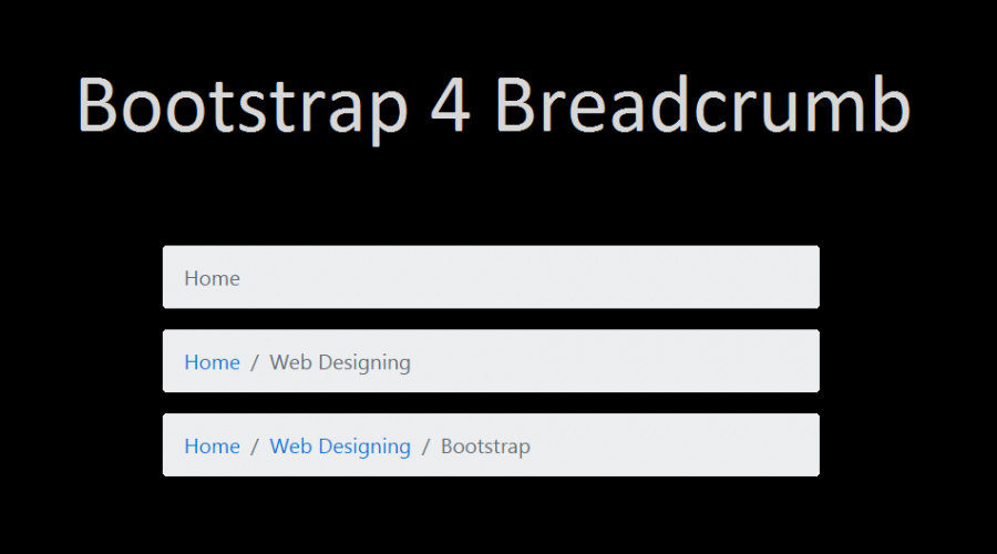 Bootstrap 4 Breadcrumb Tutorial