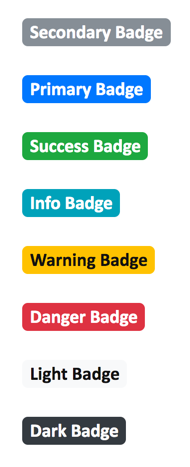 Bootstrap 4 Default Badges