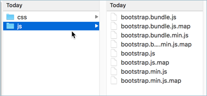 Bootstrap 4 JavaScript Files