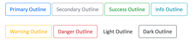 Bootstrap 4 Outline Buttons