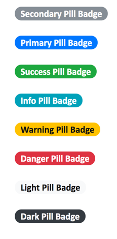 Bootstrap 4 Pill Badges