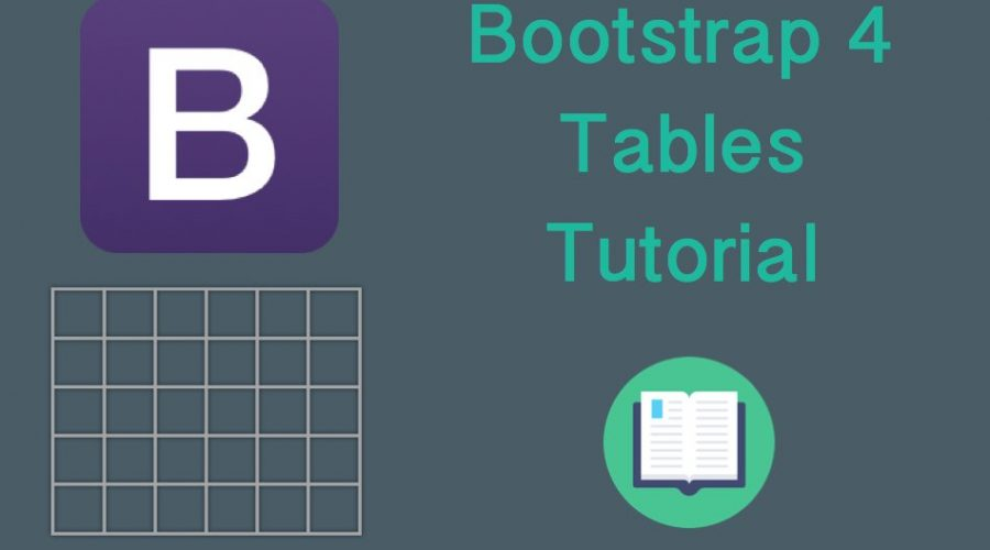 Bootstrap 4 Tables Tutorial