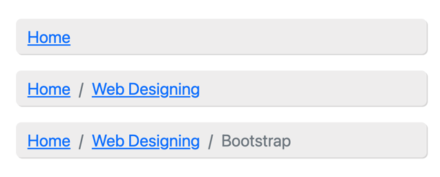 Customized Bootstrap 5 Breadcrumbs