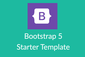 Bootstrap 5 Starter Template