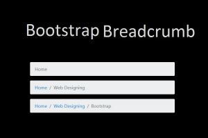 Bootstrap Breadcrumbs