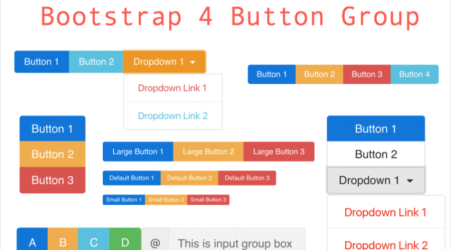Bootstrap 4 Button Group Tutorial » WebNots