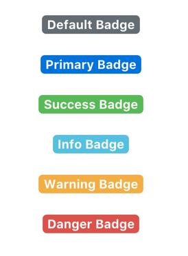 Bootstrap Contextual Badges