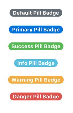Bootstrap Contextual Pill Badges